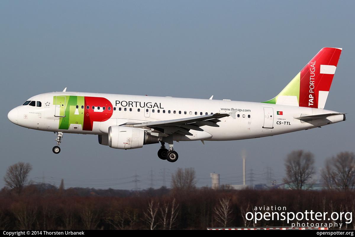 CS-TTL - TAP - Air Portugal Airbus A319-111 at Düsseldorf International Airport (DUS/EDDL) taken by Thorsten Urbanek   openspotter.org   ID: 13365