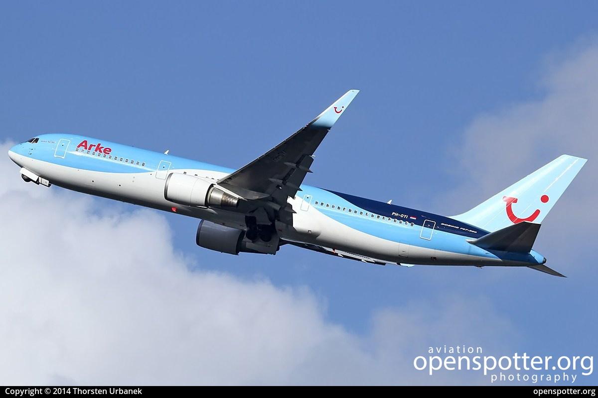 PH-OYI - Arkefly Boeing 767-304(ER)(WL) at Schiphol Airport (AMS/EHAM) taken by Thorsten Urbanek | openspotter.org | ID: 13603
