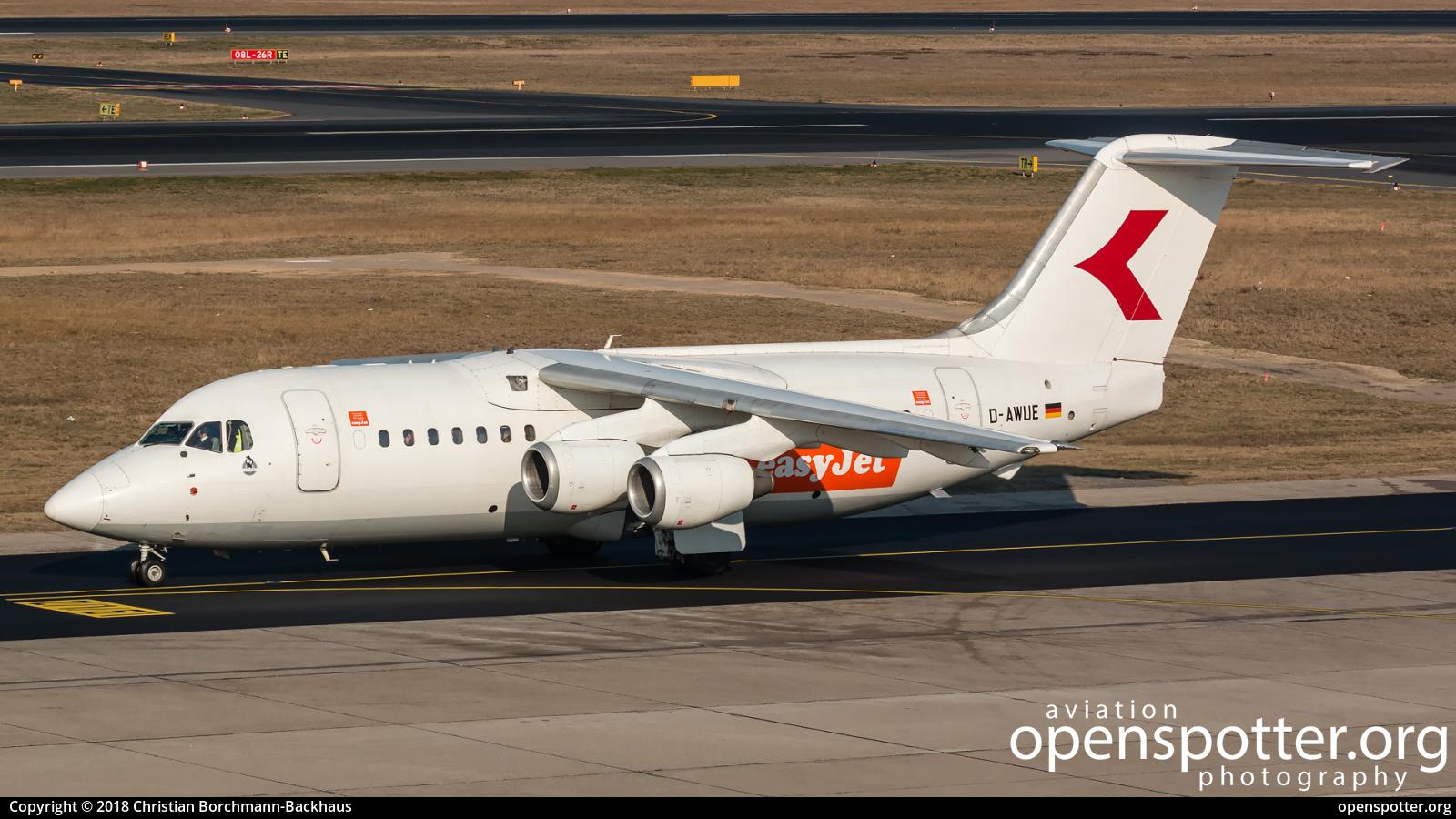 D-AWUE - WDL Aviation British Aerospace 146-200A at Berlin-Tegel Airport (TXL/EDDT) taken by Christian Borchmann-Backhaus | openspotter.org | ID: 51518
