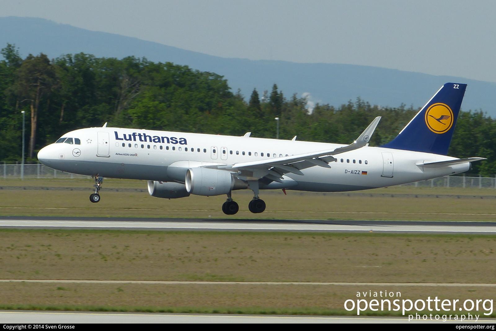 D-AIZZ - Lufthansa Airbus A320-214(WL) at Frankfurt International Airport (FRA/EDDF) taken by Sven Grosse | openspotter.org | ID: 51512