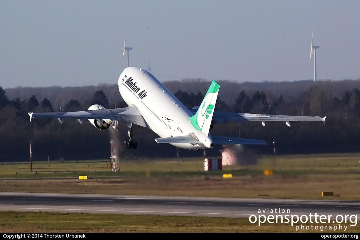 EP-MNP - Mahan Airlines Airbus A310-308 at Düsseldorf International Airport (DUS/EDDL) taken by Thorsten Urbanek | openspotter.org | ID: 13358