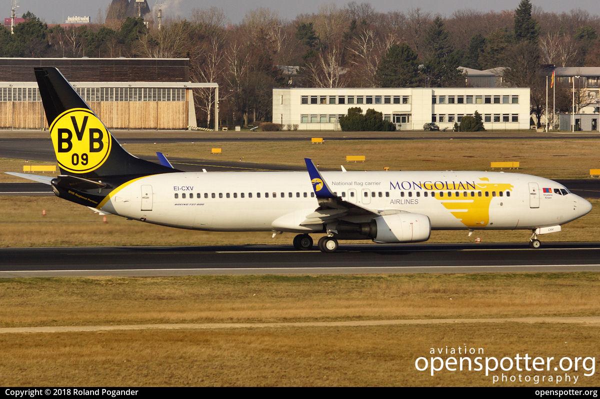 EI-CXV - MIAT - Mongolian Airlines Boeing 737-8CX(WL) at Berlin-Tegel Airport (TXL/EDDT) taken by Roland Pogander   openspotter.org   ID: 51522
