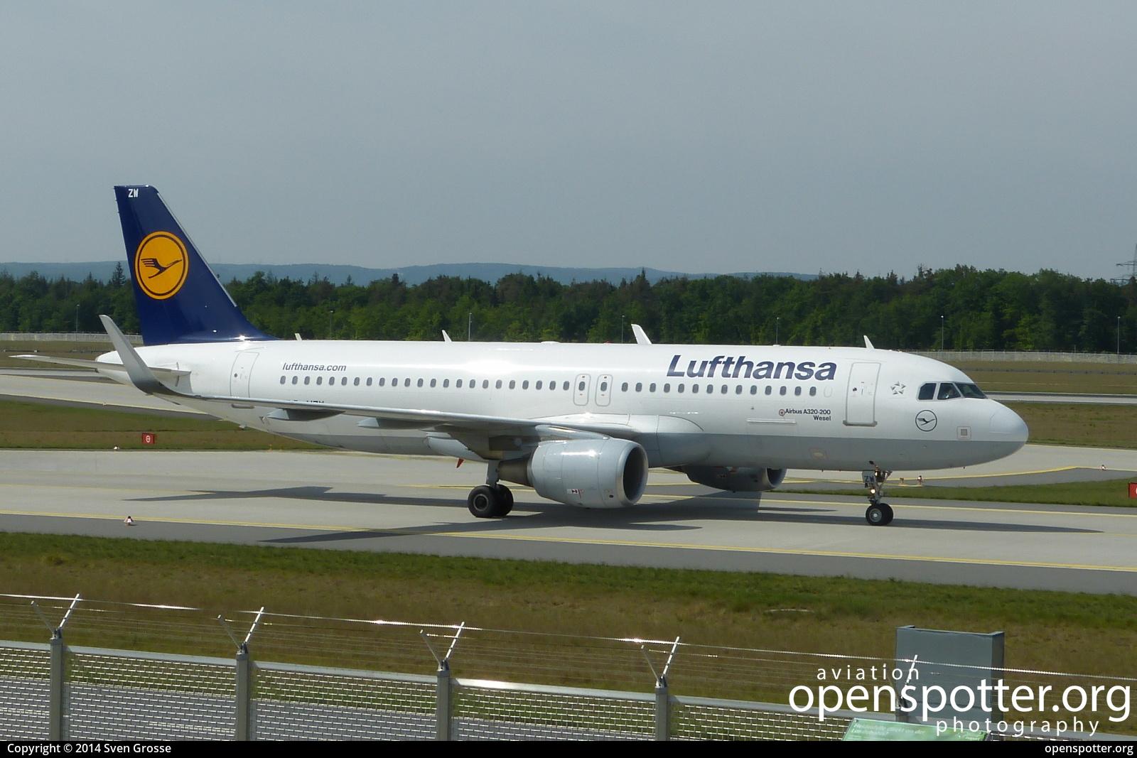 D-AIZW - Lufthansa Airbus A320-214(WL) at Frankfurt International Airport (FRA/EDDF) taken by Sven Grosse | openspotter.org | ID: 51514